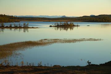 Sebu-Røssjøen i høstfarger.