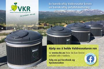 VKR driver miljøstasjonene i Valdres