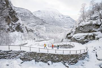 Snow shoe trip along Kongevegen over Filefjell