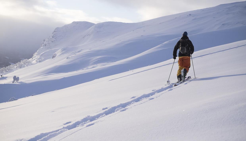 Ski tour to Hensfjellet in Vang in Valdres.