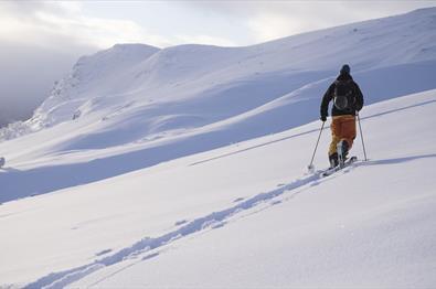 Skitour zum Hensfjellet in Vang in Valdres.