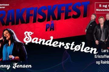 Rakfiskfest med Rainbow, Lars Kristoffersen og Jenny Jensen på Sanderstølen