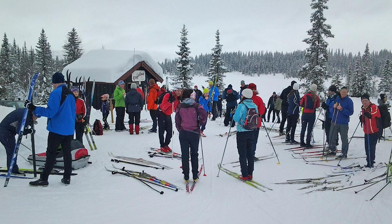 """Die """"Vaffelbua"""" liegt an der Langlaufloipe Grün 4 südwestlich des Beitostølener Skistadions."""