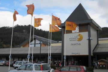 Inngangsparti Amfi Valdres