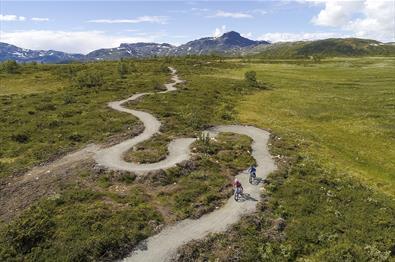 Donenbild (Luftaufnahme) der Beitostølen Trail Arena
