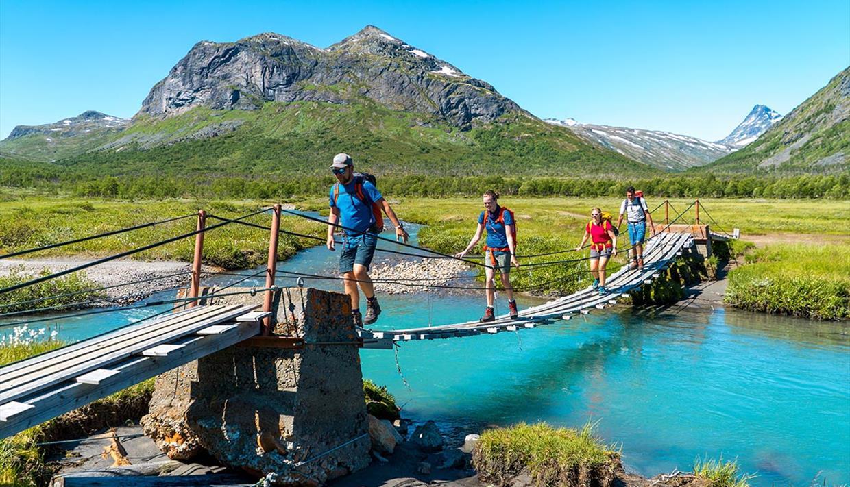 Brücke über die Storåne in Jotunheimen
