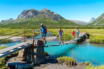 Bridge near Gjendebu in Jotunheimen