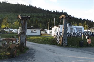 Inngangspartiet til en campingplass
