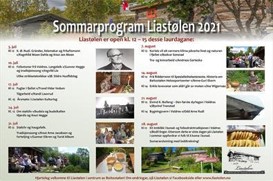 Sommerprogram Liastølen 2021