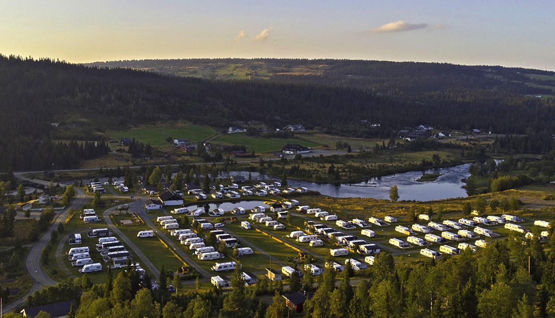 Oversiktsbilde av Bjørkestølen Camping