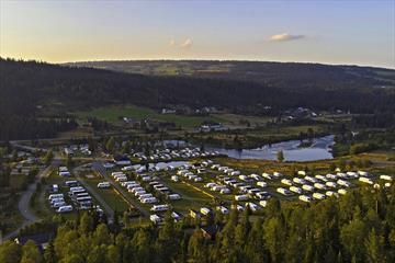 Luftaufnahme vom Bjørkestølen Campingplatz