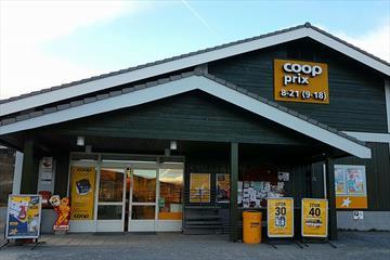 COOP marked Fjellvang ligger nydelig til ved foten av Grindane.