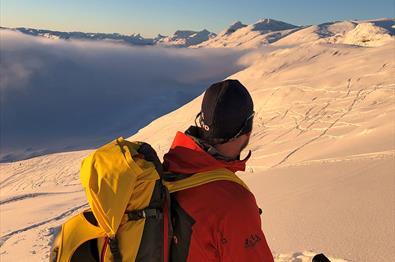 Geführte Skitour zum Synshorn