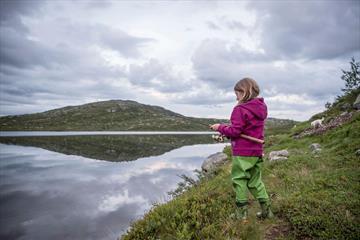 Fishing in Lake Gravolstjednet.