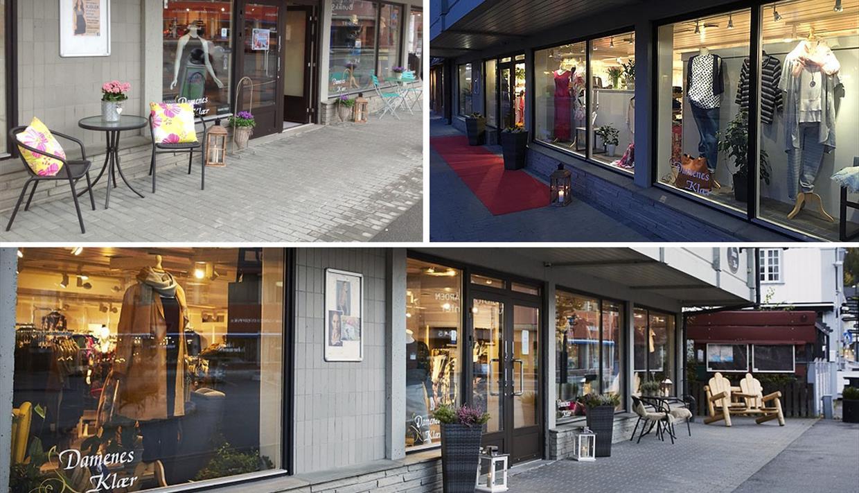 Butikken ligger på gateplan, i hjertet av Fagernes