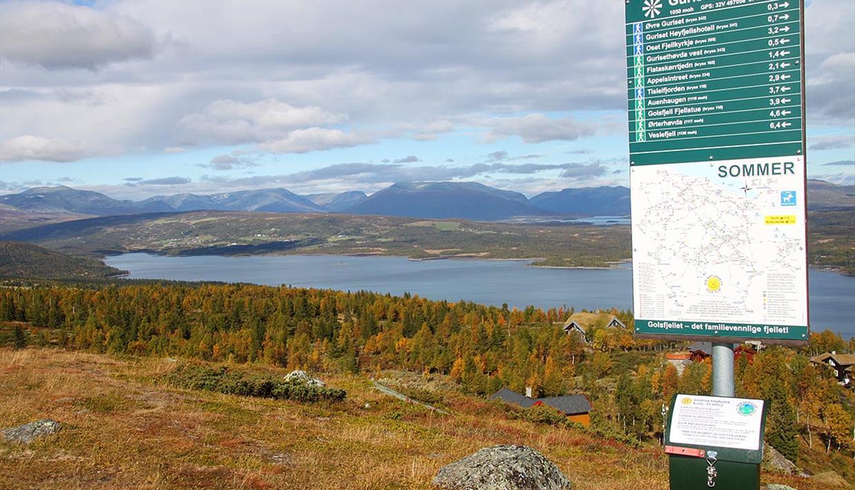 Die Gurisethøvda ist einer der Gipfelpunkte, die in dem Wanderprogramm Topp 11 auf dem Golsfjellet enthalten ist.