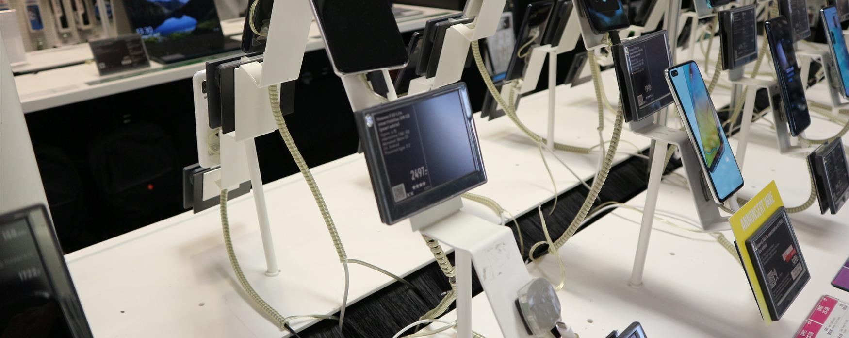 mobiler i butikk
