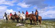 Ridetur til toppen av nuten ved Fagerdalen