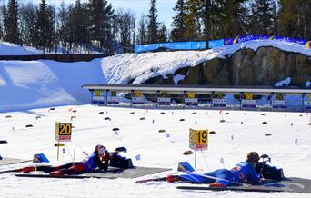 Aktive barn og unge under Bendit skiskytterfestival