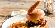 Hamburger fra Bergtatt Bistro