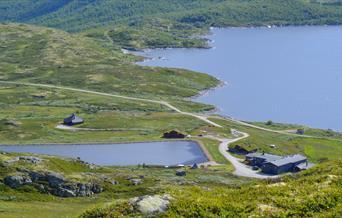 Utsikt over Rødungstøl Høyhjellshotell.