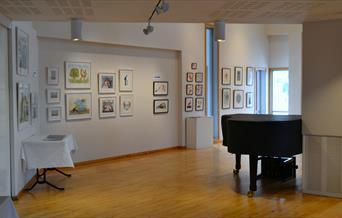 Galleriet sett fra inngangen.