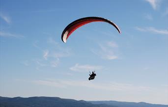 Paragliding i Liagardane