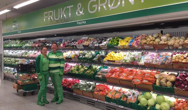 Frukt og grønt-avdelingen hos Kiwi Ål.