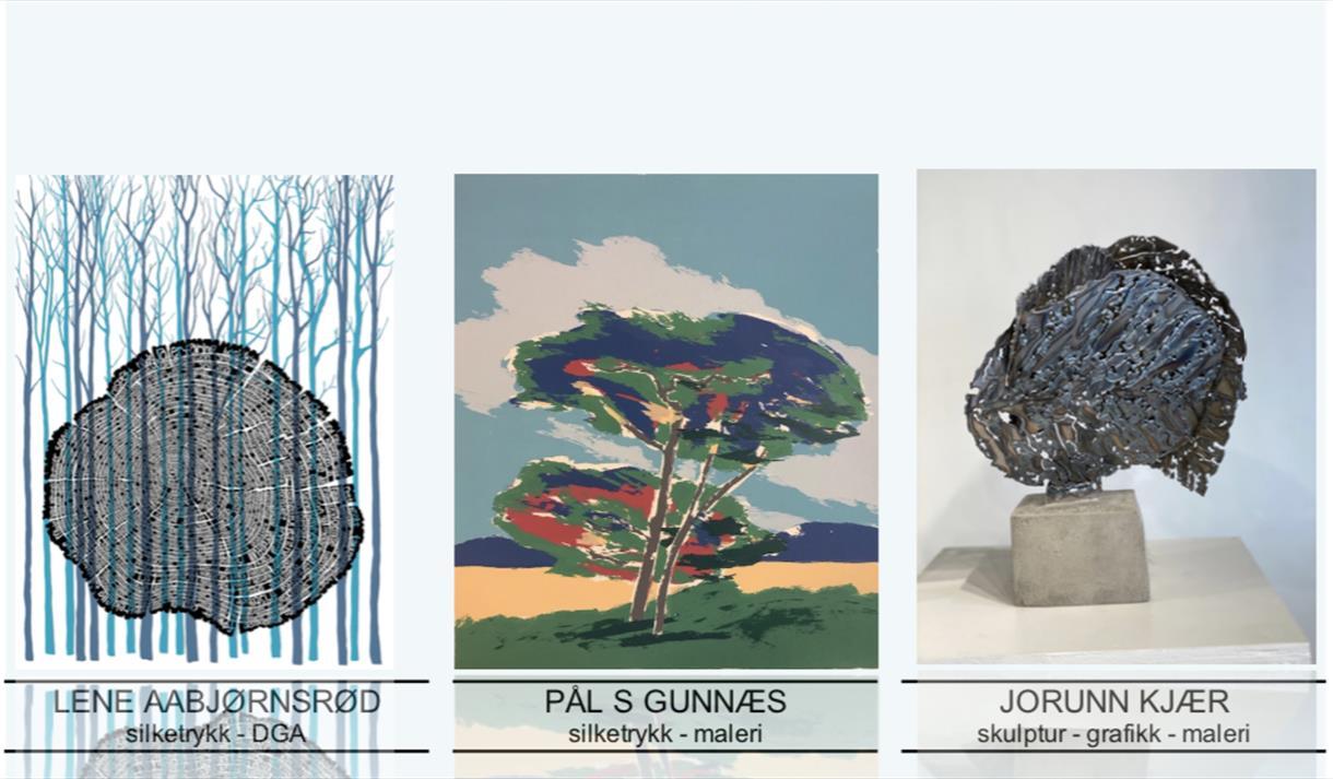 Plakat: utstillingen Treklang på blikk galleri