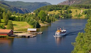 Dagstur på Telemarkskanalen: Dalen-Ulefoss-Dalen