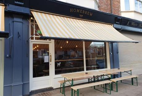 Exterior of Homebrew Tap in New Brighton, Wirral
