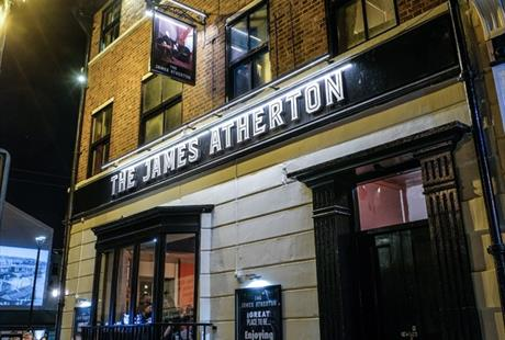 The James Atherton pub in New Brighton, Wirral.