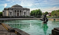 Lady Lever Art Gallery outside with a view of the fountain