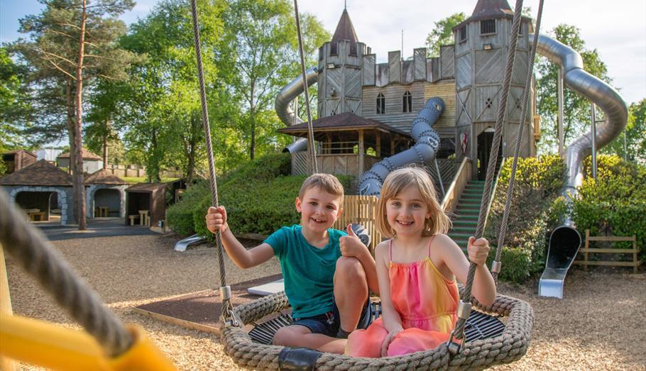 Children enjoying the adventure playground at Longleat