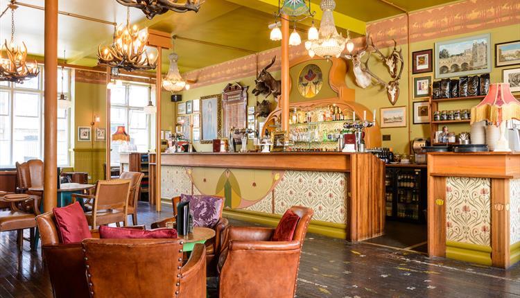 Bar area at Cosy Club in Salisbury