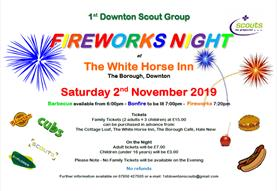 1st Downton Scouts Fireworks Night
