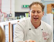 Peter Demonstrating at Vaughan's Cookery School
