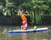 SUP in the river avon