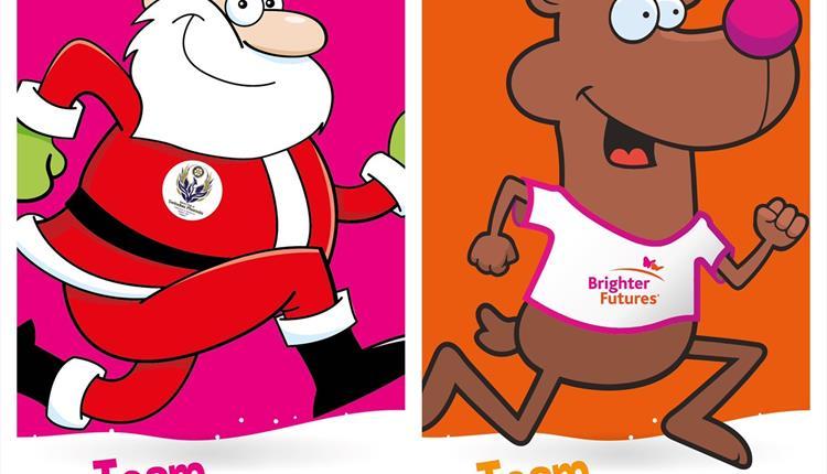 Virtual Santa vs Rudolph Run