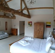 Bedroom 1 in the Chalk Barn at Buttle Farm