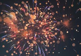 fireworks exploding in the night
