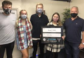 A team wearing masks