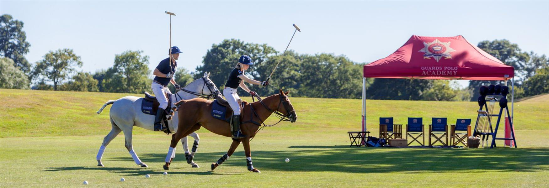 Learning to play Polo at Coworth Park