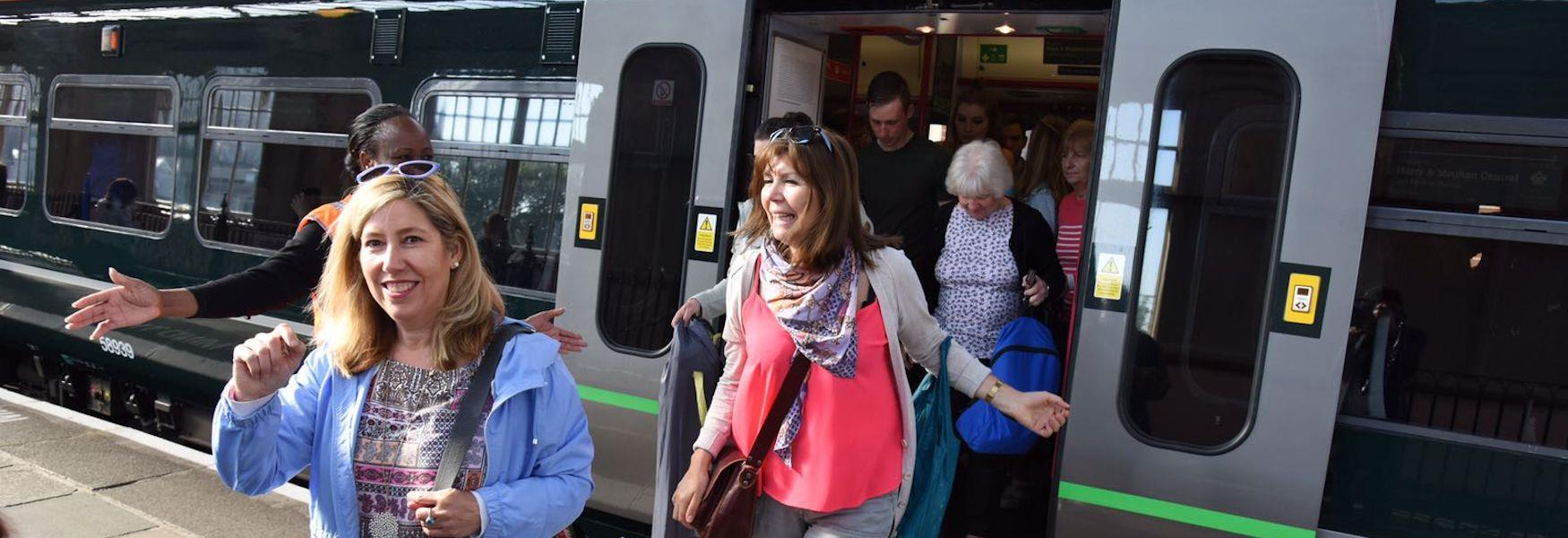Visitors arrive by GWR for the Royal Wedding