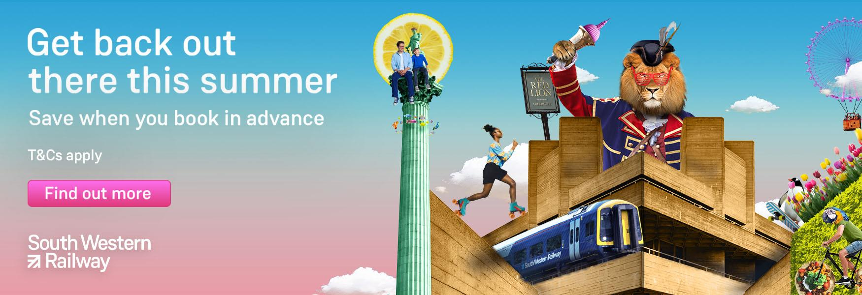 South West Trains: get back out there this summer; save when you book in advance