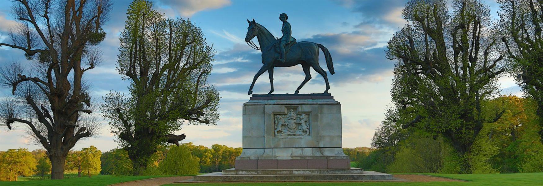 Windsor Great Park Jubilee Statue of The Queen