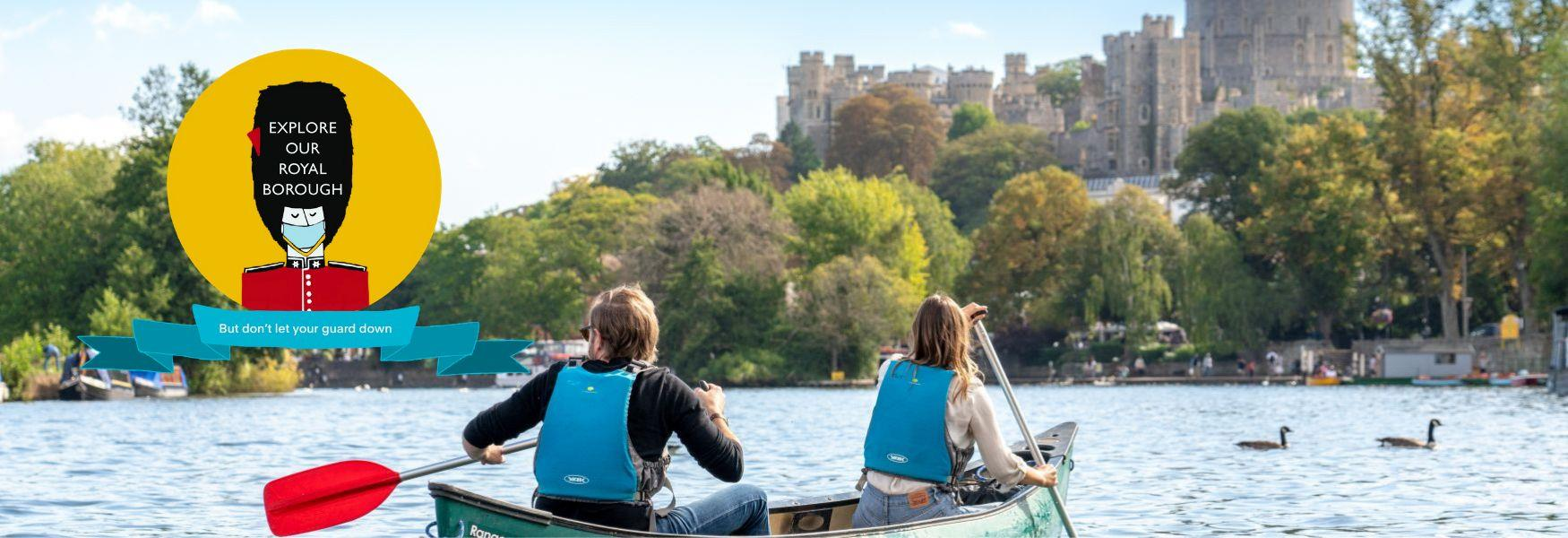 Canoeing on the River Thames at Windsor
