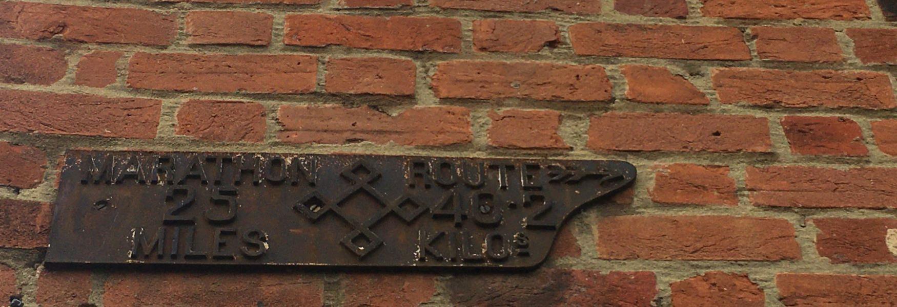 1908 Marathon Route Marker, Eton