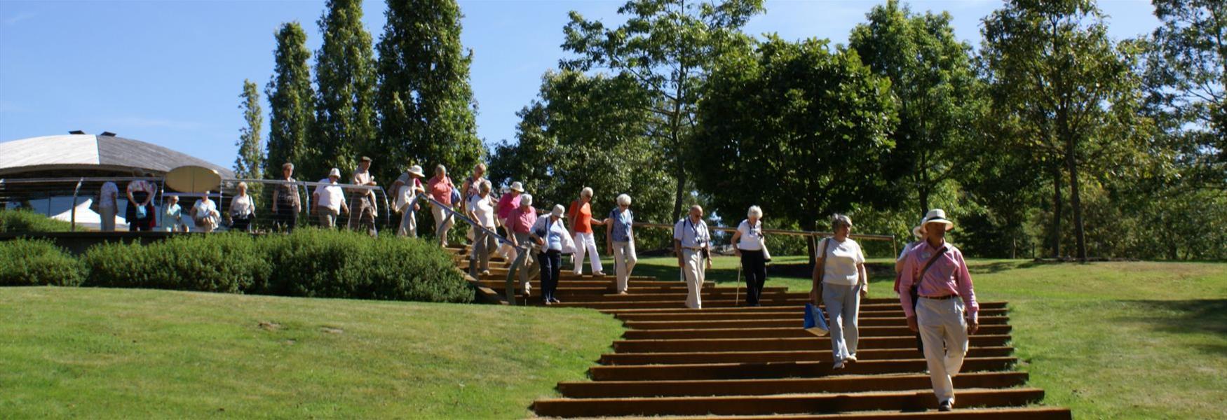 Group visiting The Savill Garden