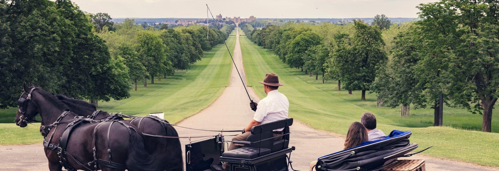 A romantic horse-drawn carriage ride with Windsor Carriages